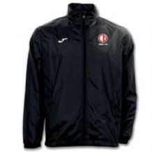 Crewe United Rain Jacket Black - Adults 2018